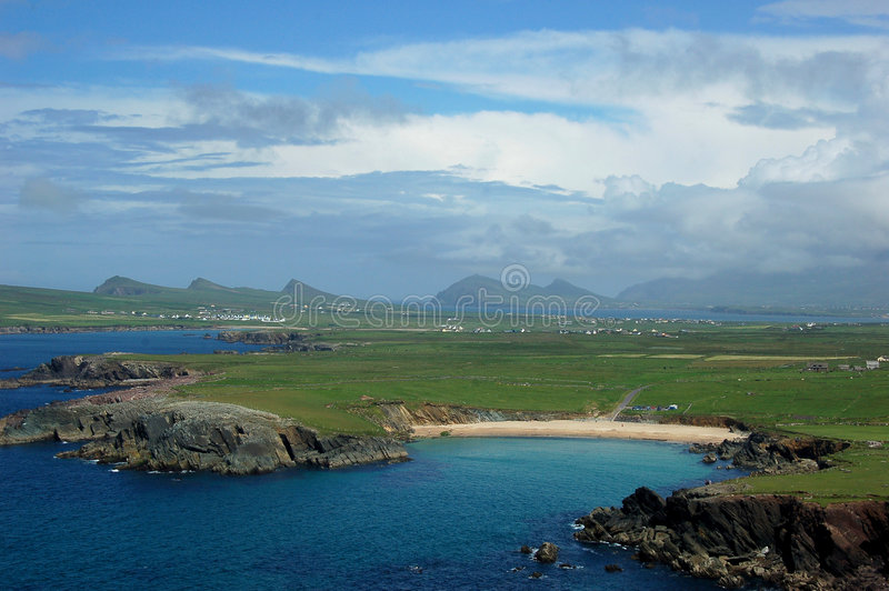 plażowe dingle Północnej skał obraz royalty free