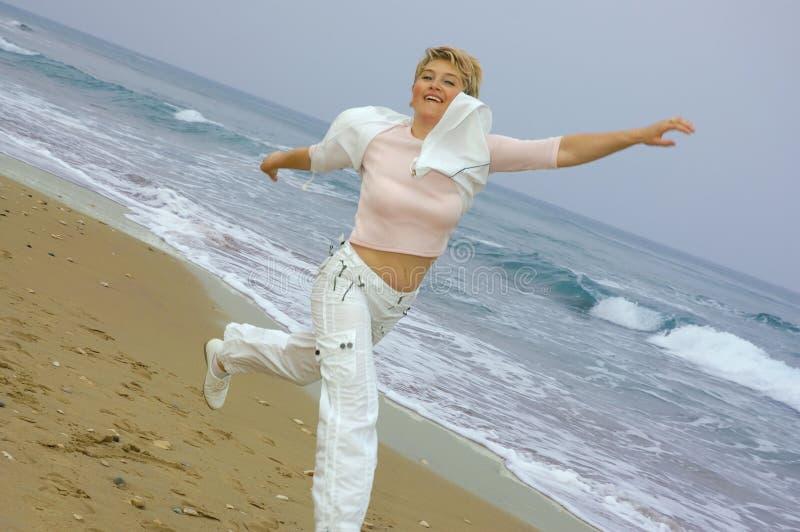 plażowe dojrzałe się piękne kobiety obraz royalty free