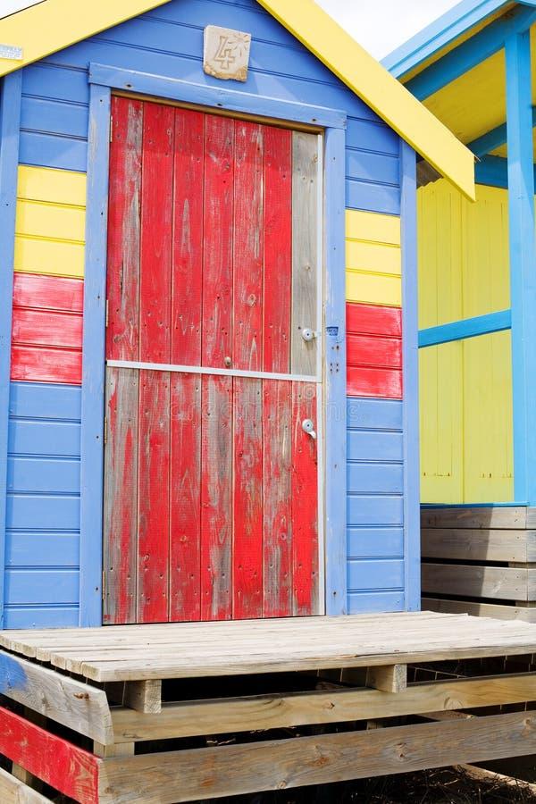 plażowe kabiny obraz royalty free