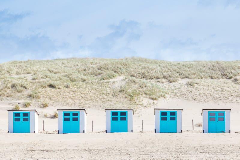 Plażowe kabiny, Texel holandie obrazy stock