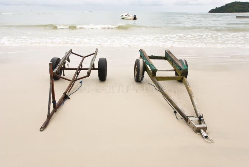 plażowe przyczepy obraz stock