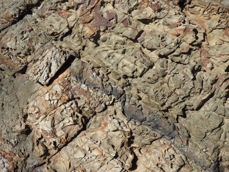 Plażowe rockowe tekstury obraz stock
