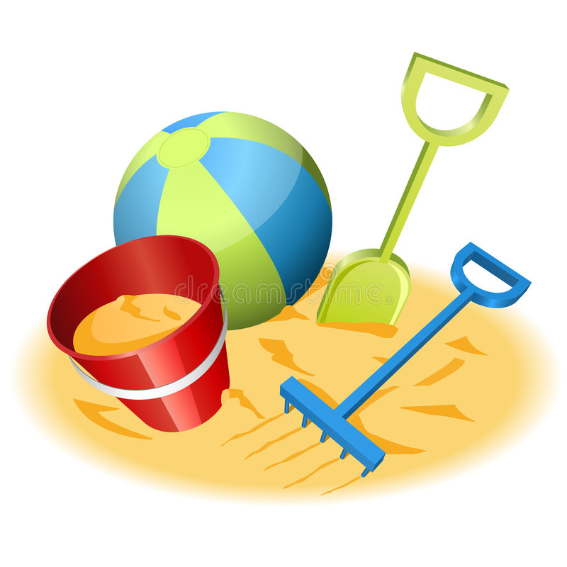 plażowe zabawki ilustracji