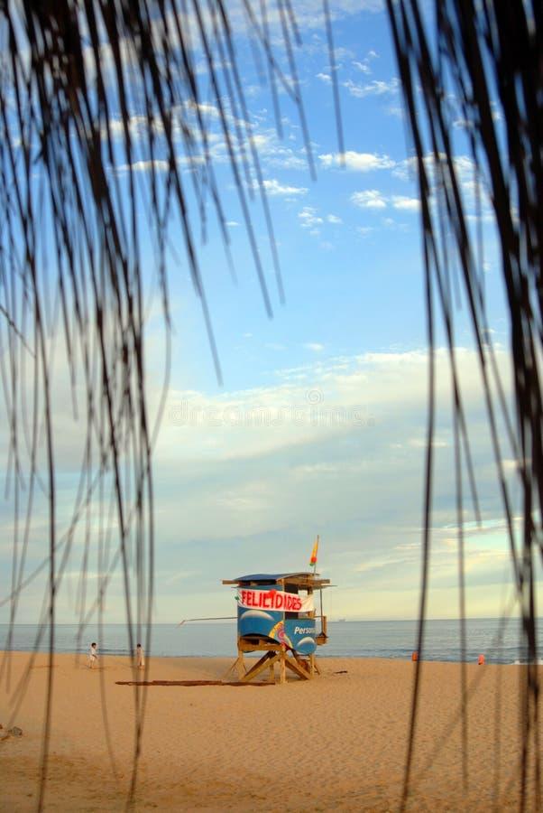 plażowego domu ratownik zdjęcie stock