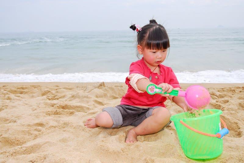 plażowego dziecka chiński bawić się obrazy stock