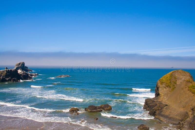 plażowego ecola Oregon parkowy skalisty stan usa zdjęcia stock
