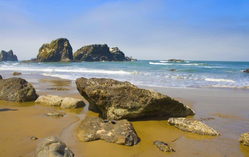 plażowego ecola Oregon parkowy skalisty stan usa obraz stock