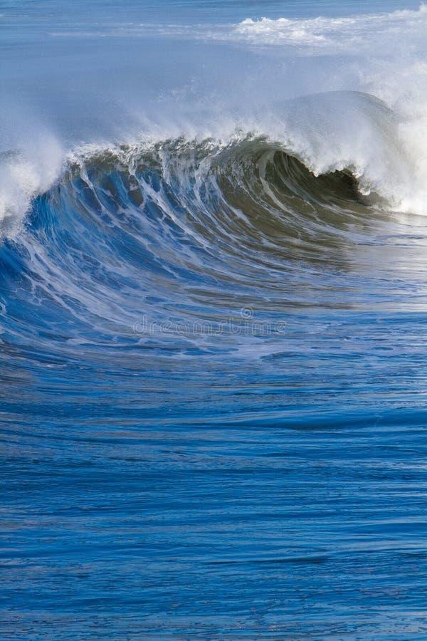 plażowego oceanu pokojowe kipieli fala fotografia royalty free