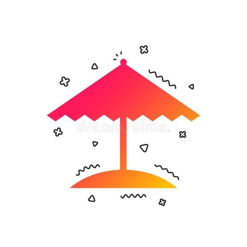 Plażowego parasola ikona błękitny butelki ochrony ochronny słońca sunscreen wektor ilustracji
