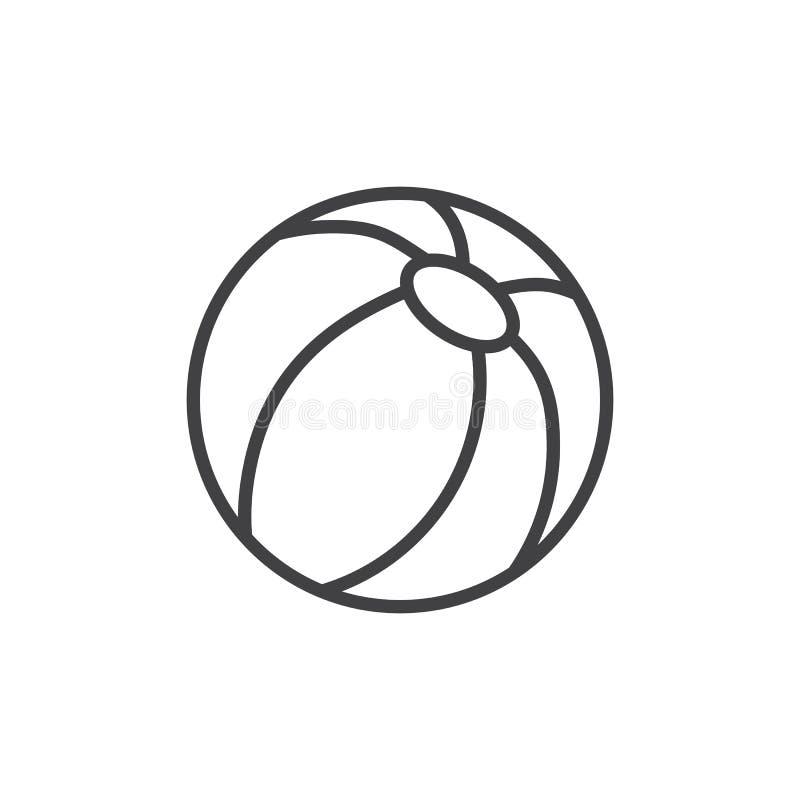 Plażowej piłki konturu ikona royalty ilustracja