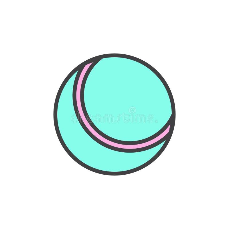 Plażowej piłki konturu wypełniająca ikona ilustracja wektor