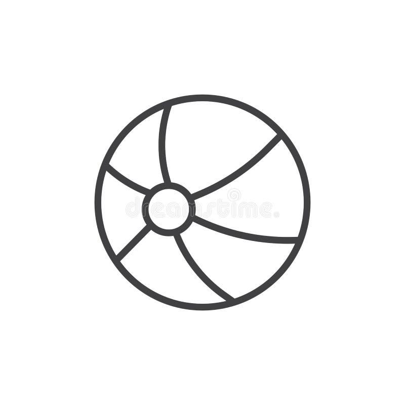 Plażowej piłki linii ikona ilustracji