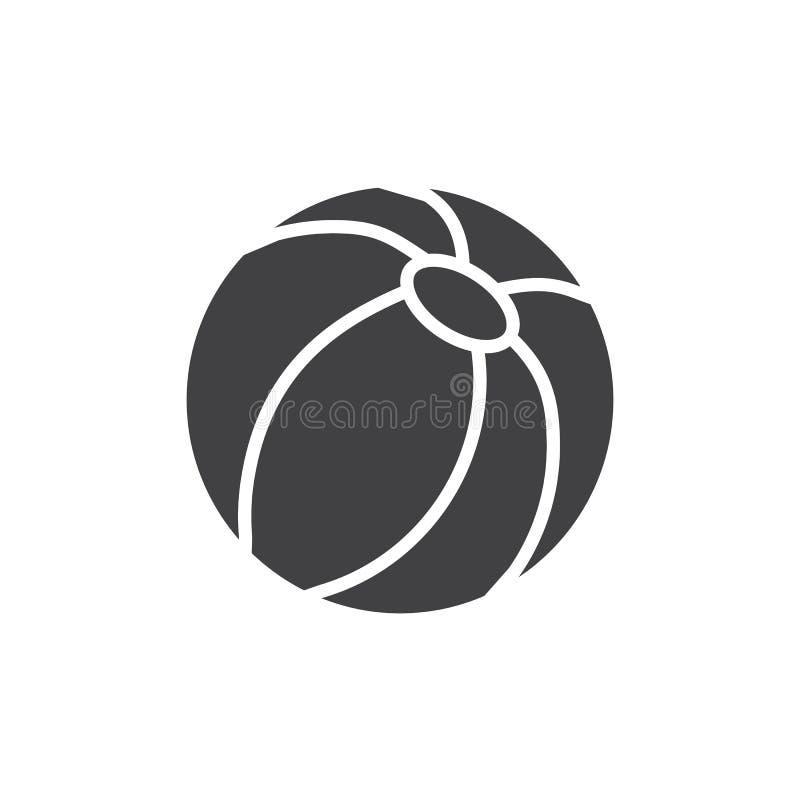 Plażowej piłki wektoru ikona ilustracja wektor
