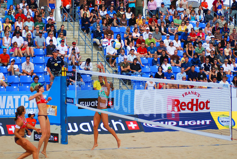 plażowej siatkówki gracze fotografia stock