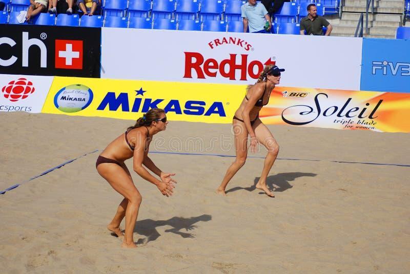 plażowej siatkówki gracze zdjęcia stock