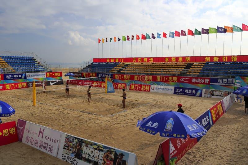 Plażowej siatkówki magistrali stadium zdjęcie royalty free