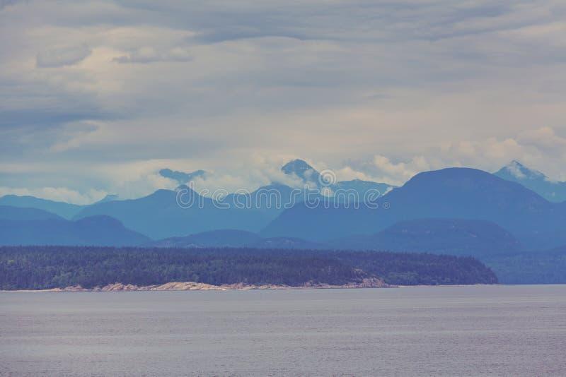 plażowej wieczór wyspy niski pokojowy kałuż piaska przypływ Vancouver mokry fotografia royalty free