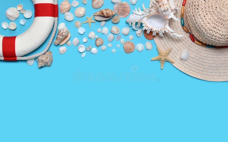 Plażowi akcesoria obrazy stock