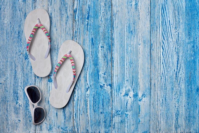 Plażowi akcesoria, morze wakacje fotografia royalty free