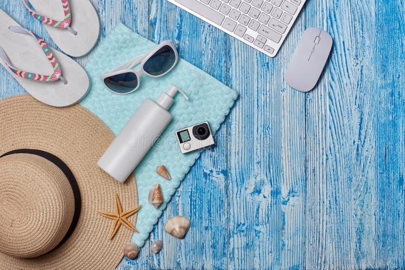 Plażowi akcesoria, morze wakacje zdjęcia stock