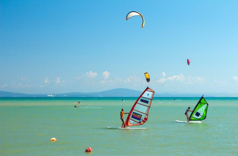 Plażowi akcja sporty obrazy stock