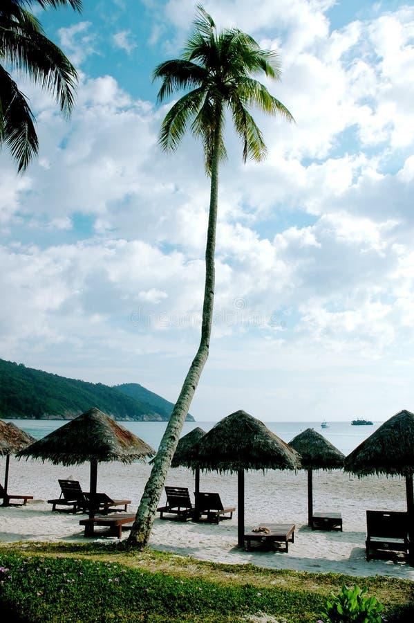 plażowi cabanas zdjęcia royalty free