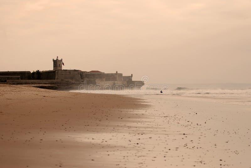 plażowi carcavelos s obraz stock