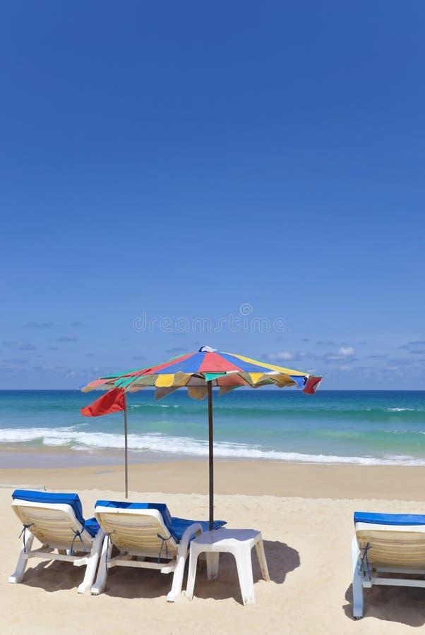 plażowi deckchairs zdjęcia stock