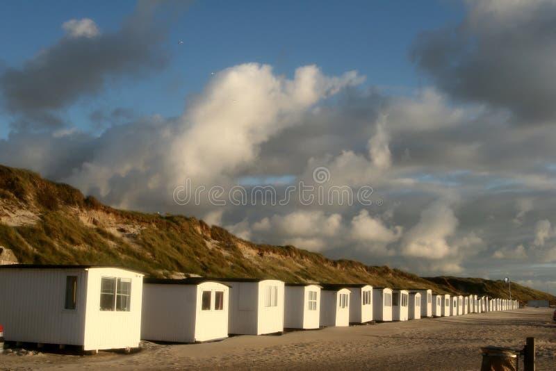plażowi domy. zdjęcia stock