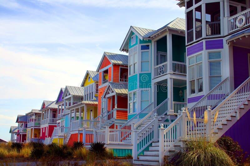 plażowi domy. obraz stock
