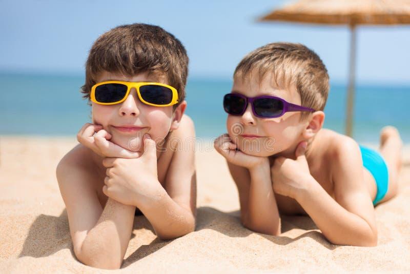 plażowi dzieci dwa obraz stock
