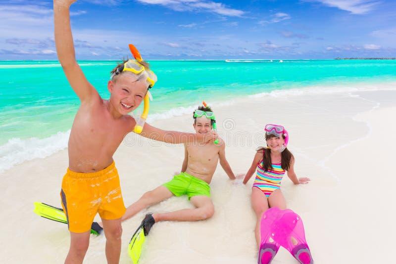 plażowi dzieciaki zdjęcie stock