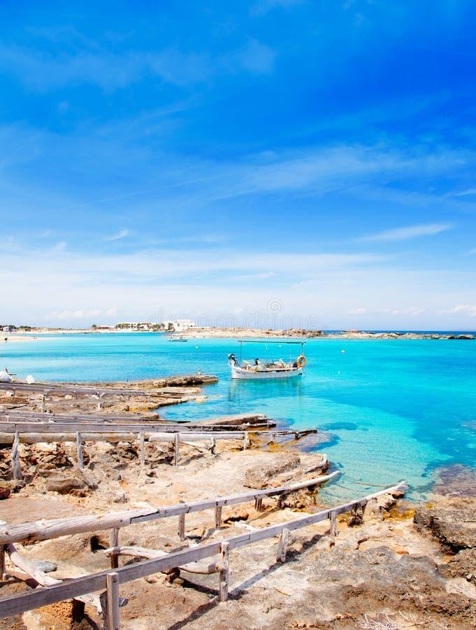 plażowi els Formentera pujols fotografia stock