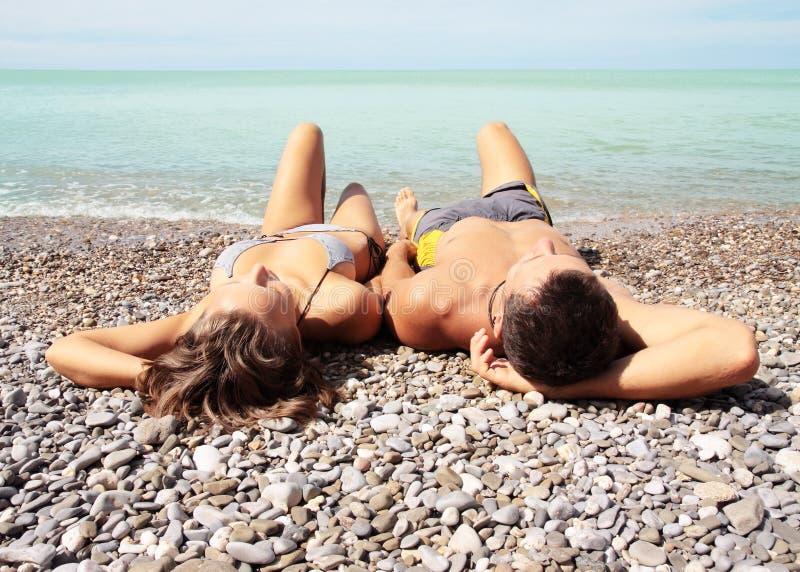 plażowi kłamstwa zdjęcia royalty free
