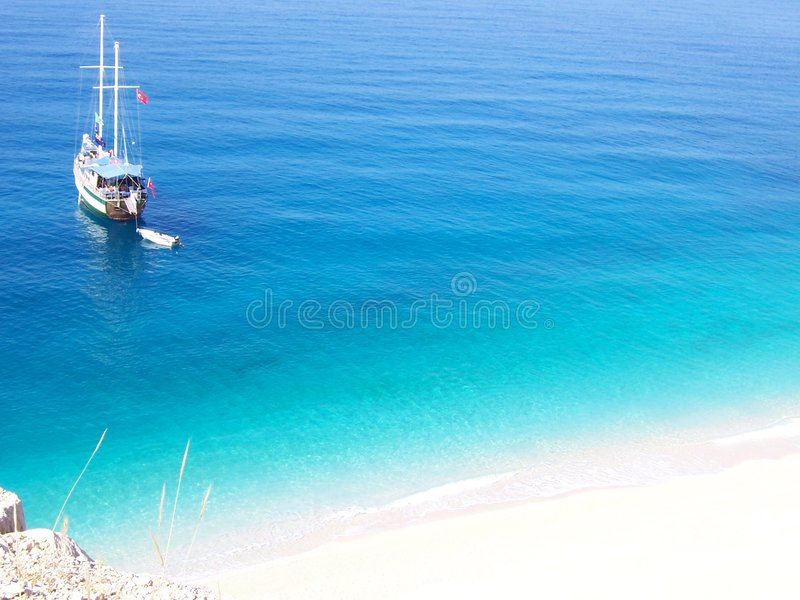 plażowi kalkan kaputas zdjęcia royalty free