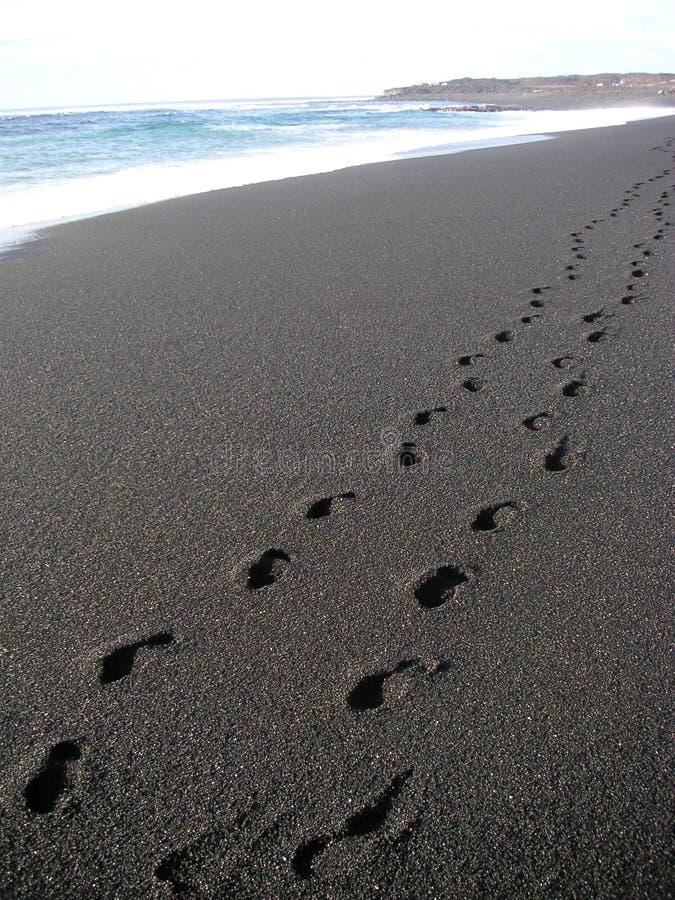 plażowi kroków zdjęcie stock
