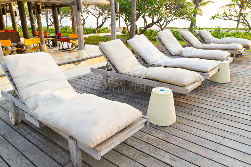 plażowi krzesła obraz stock