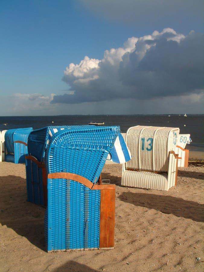 plażowi krzesło obrazy stock