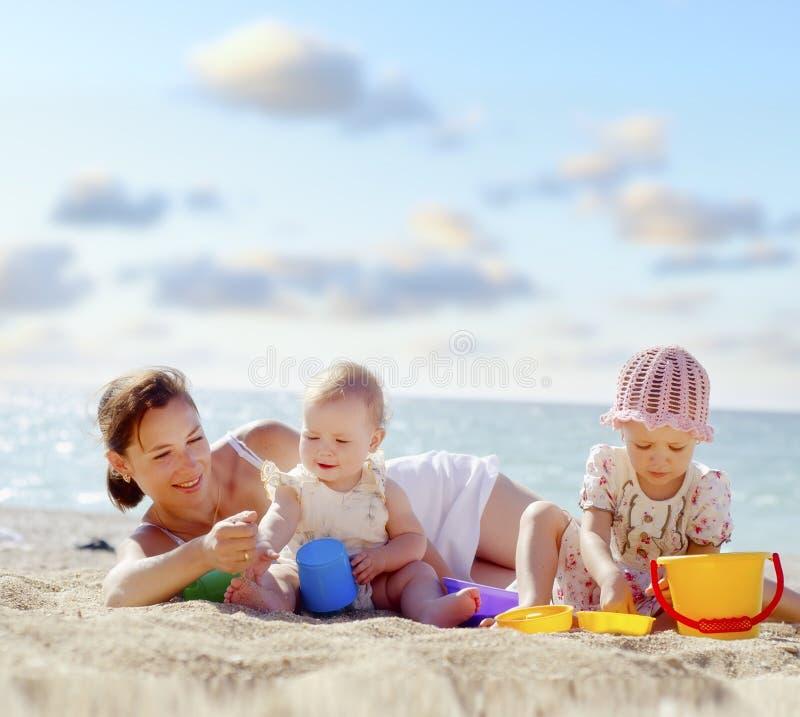 plażowi ludzie obrazy stock