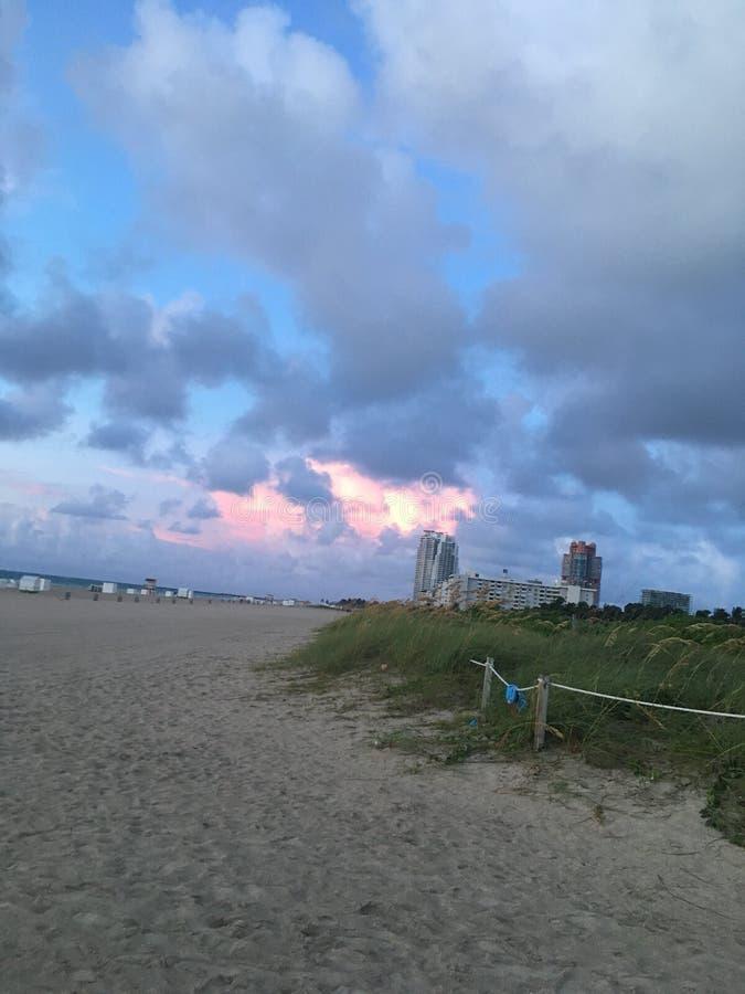 plażowi Miami na Florydzie obrazy royalty free