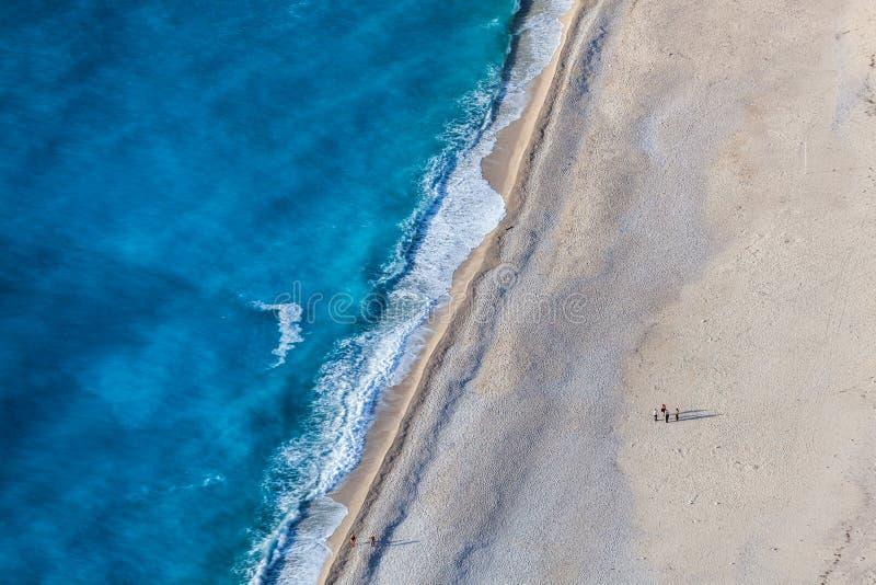 plażowi myrtos fotografia royalty free