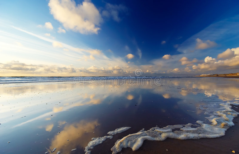 plażowi odbicia zdjęcie royalty free