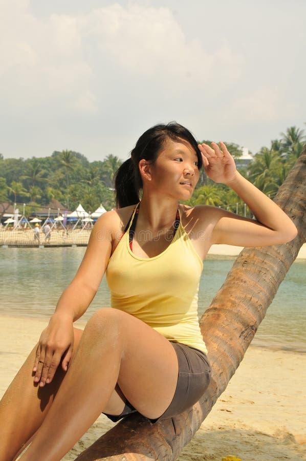 plażowi odpoczynkowi potomstwa obraz royalty free