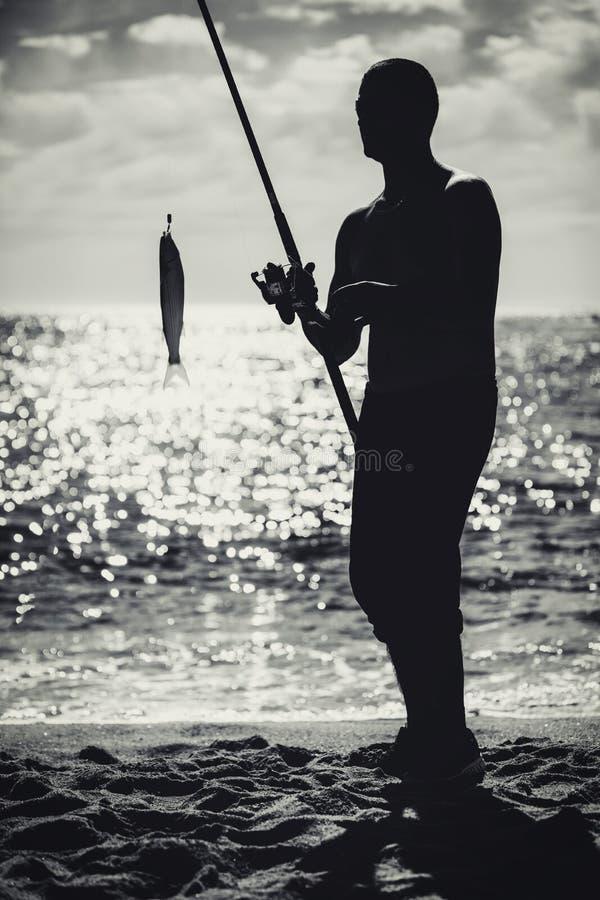 plażowi rybacy zdjęcie stock