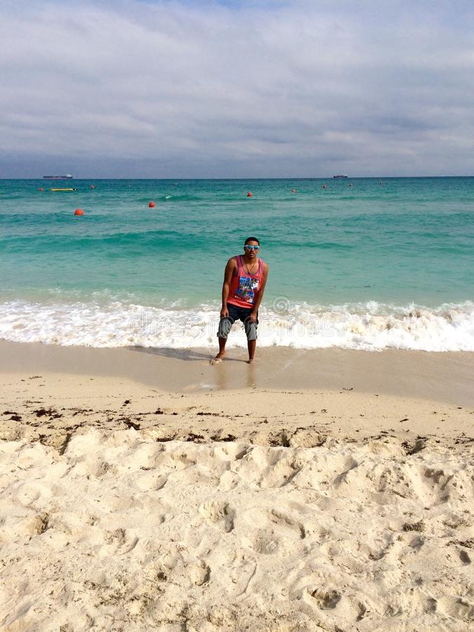 plażowi south Miami fotografia stock