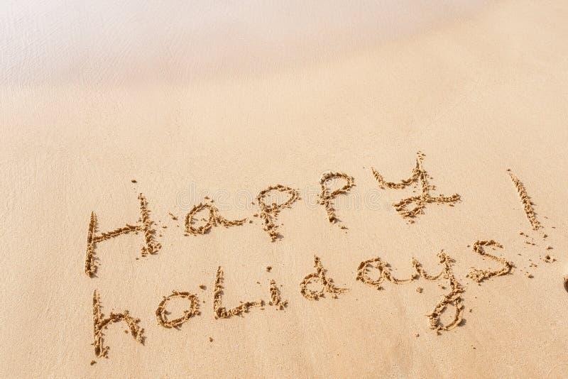 plażowi szczęśliwi wakacje obraz stock