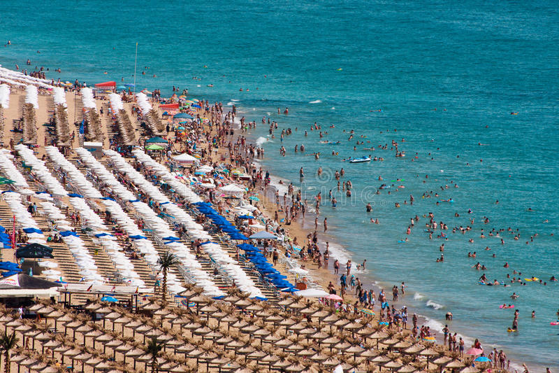 plażowi złoci piaski fotografia royalty free