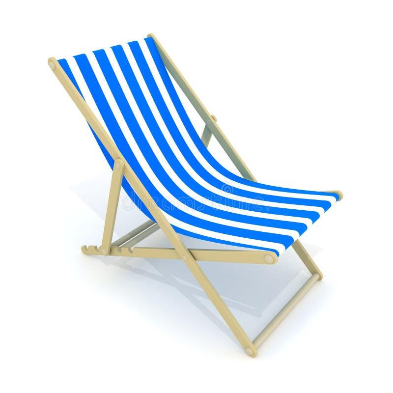 plażowy łóżkowy błękit ilustracji