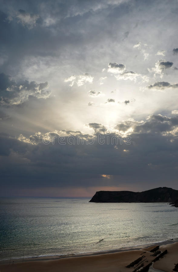 plażowy świt fotografia stock
