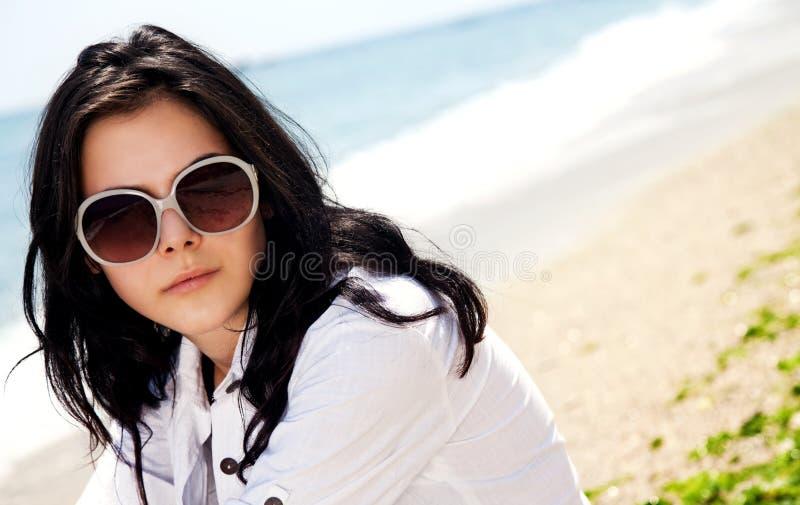 plażowy żeński portret zdjęcie stock
